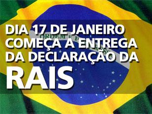 Entrega da Rais se iniciou dia 17 de Janeiro