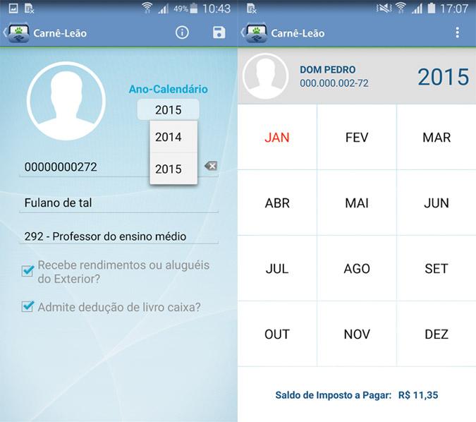 Aplicativo Carnê Leão - Android