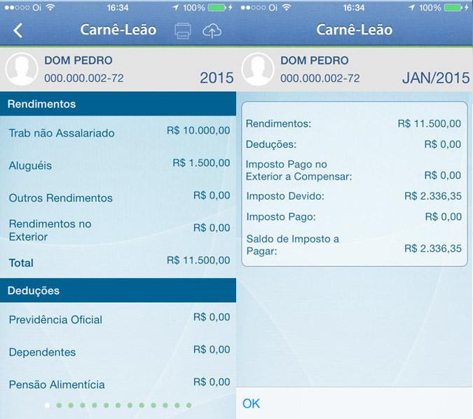 App Carnê Leão para iOS